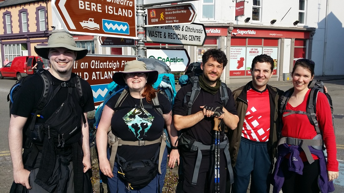 Corinne starts the 840km Ireland Way hiking trail, Ireland