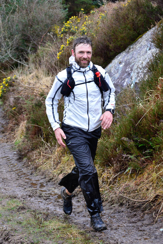 Don Hannon running the Ireland Way trail